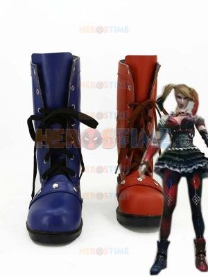 Botas de Harley Quinn de color Rojo & Azul