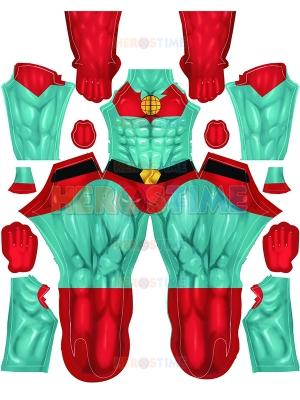 Capitán Planet Cosplay Disfraz Versión de músculo fuerte