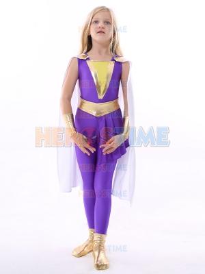 Traje de Darla Dudley de la Familia Shazam de Halloween para Niños
