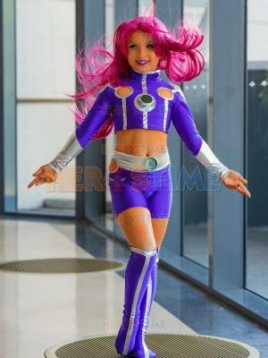 Traje de Starfire de Teen Titans para Niñas