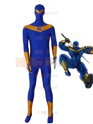 Traje Azul de Knight Seeker Cosplay