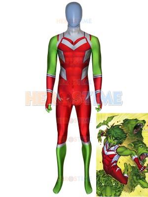 Traje de Beast Boy de Teen Titans de DC Comics Traje imprimido de Cosplay