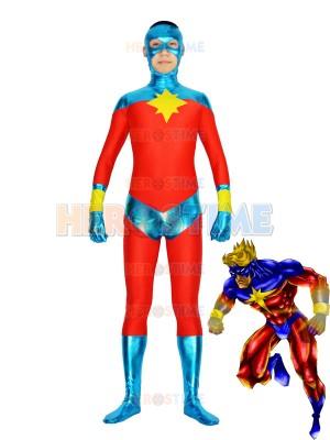 Captain-Marvel Mar-Vell traje de superhéroe