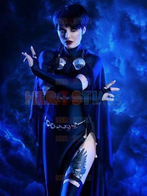 Traje Azul Marino de Raven de DC Comics  Disfraz Femenino de Spandex