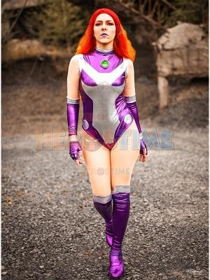 Disfraz de Cosplay brillante de Starfire Rebirth V1