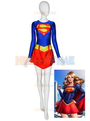 Traje de Spandex de Supergirl de DC Comics