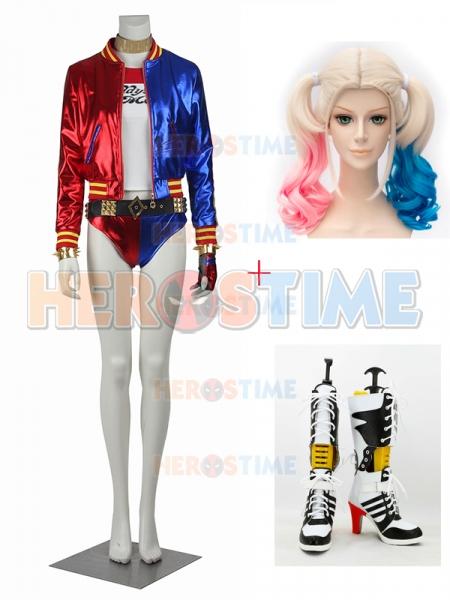 180806a5b Suicide Squad Traje Completo de Lujo de Harley Quinn Cosplay