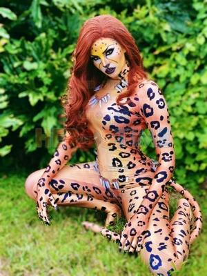 Wonder Woman 1984  Disfraz de Cheetah Super Villana Cosplay