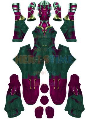 Traje de visión Disfraz de superhéroe versión Wandavision