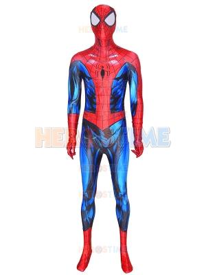 Traje de Spiderman definitivo con cincha de pintura Puff y araña de cuero