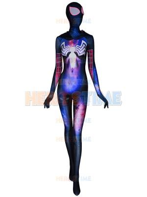 Traje de Gwenom de textura de Galaxia Traje de Symbiote Gwen Stacy