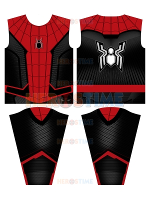 Camiseta de superhéroe Camiseta de Spider-Man Camiseta de manga larga lejos de casa