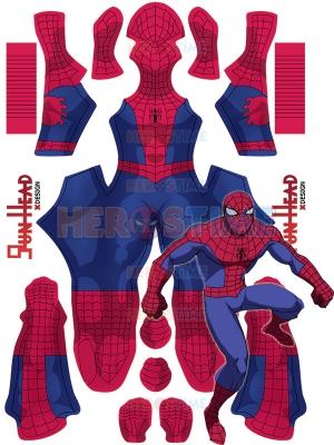 1994 Spider-Man Cosplay Disfraz Versión NOCHE Niños y adultos Traje de Halloween