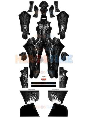 Traje de Carnage negro Venom Disfraz de Cosplay con Músculo masculino