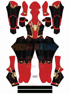Disfraz de Spider-Man Disfraz dorado integrado de No Way Home