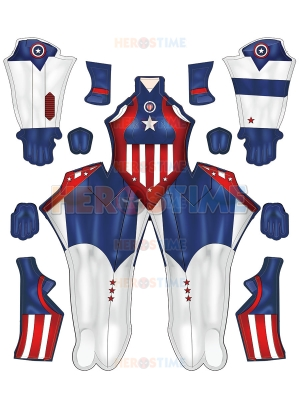 Disfraz de Cosplay de Capitán América de cómics más nuevo versión femenina