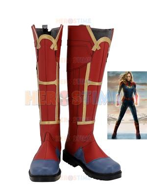 Captain Marvel Shoes Captain Marvel Cosplay Botas