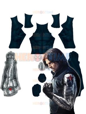 Traje de soldado de invierno Bucky Barnes Camiseta de manga larga