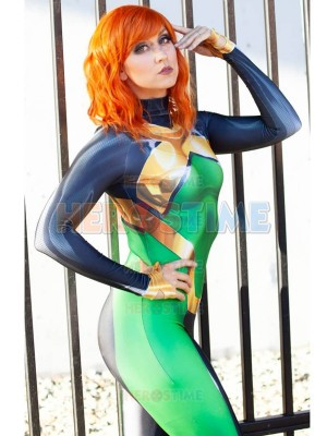 Traje de joven Jean Grey X-men Phoenix Superhero Cosplay