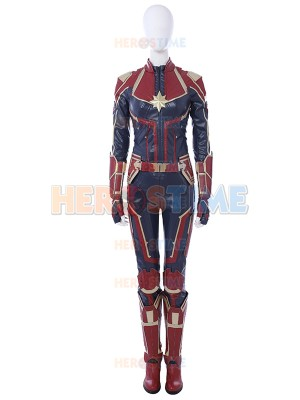 Traje de Capitana-Marvel Carol Danvers Cosplay